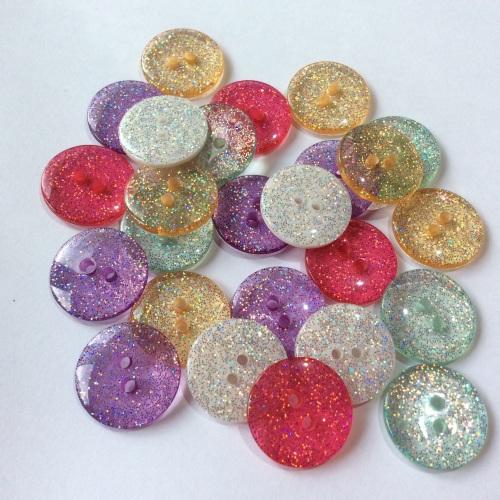 18mm Glitter buttons