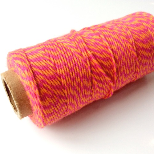 Neon Pink/Orange cotton twine