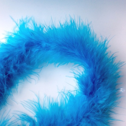 Turquoise Maribou Feather String