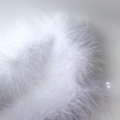 White Maribou Feather String