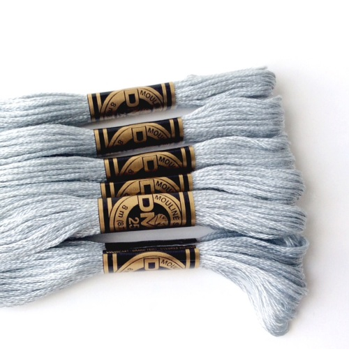 DMC Embroidery Thread matching SILVER FELT