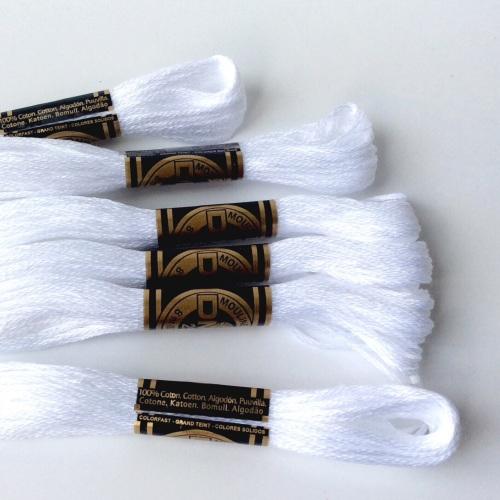 DMC Embroidery Threads matches SMOWY WHITE FELT