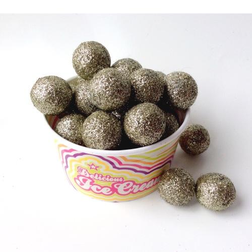 Nickel Glitter felt ball