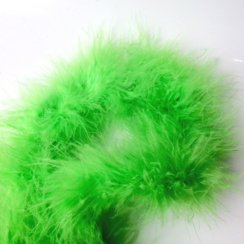 Lime Green Maribou Feather String