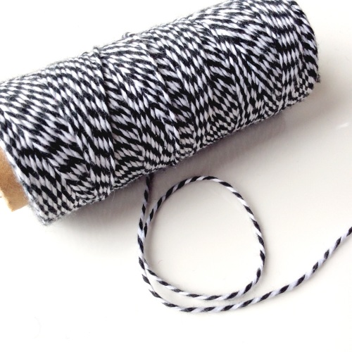 2 ply Bakers Twine - BLACK