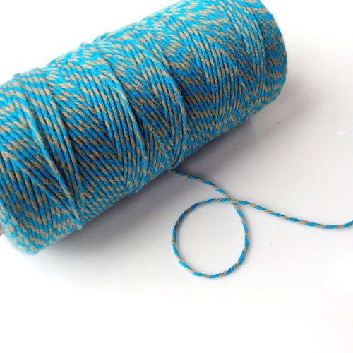 2 ply Bakers Twine - TEAL/OLIVE