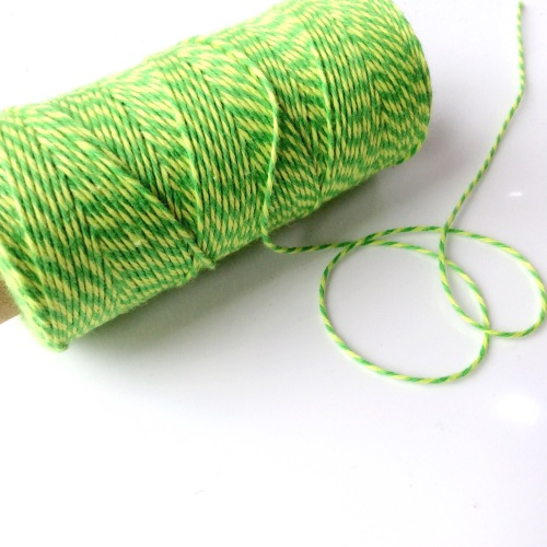 2 ply Bakers Twine - HIGHLIGHTER YELLOW/LIME