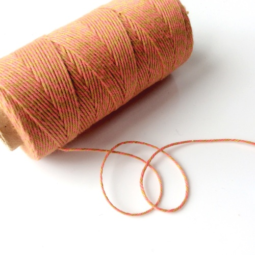 2 ply Bakers Twine - ROSY GOLD