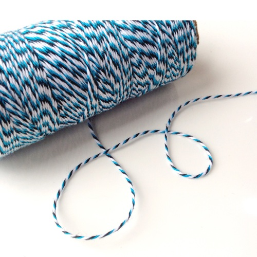 2 ply Bakers Twine - BLUE/NAVY