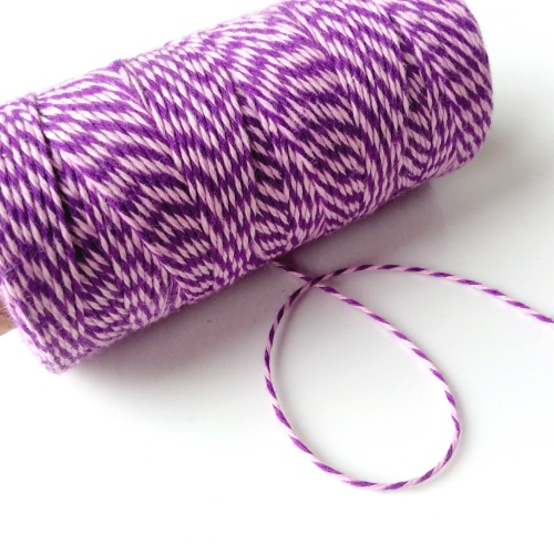 2 ply Bakers Twine - PINK/PURPLE