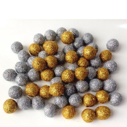15mm glitter felt balls