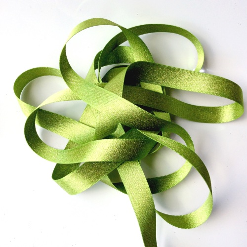 sparkly 15mm ribbon - GREEN