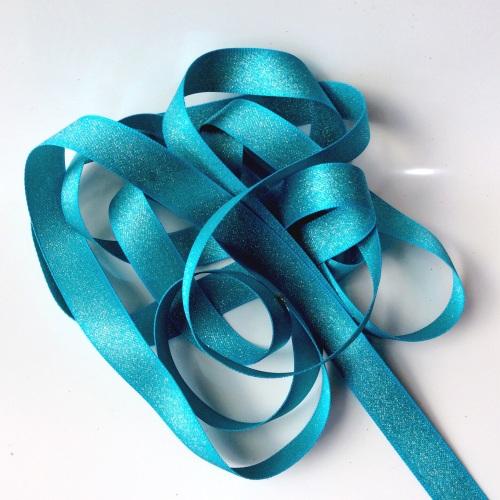 Sparkly 15mm ribbon - AZURE