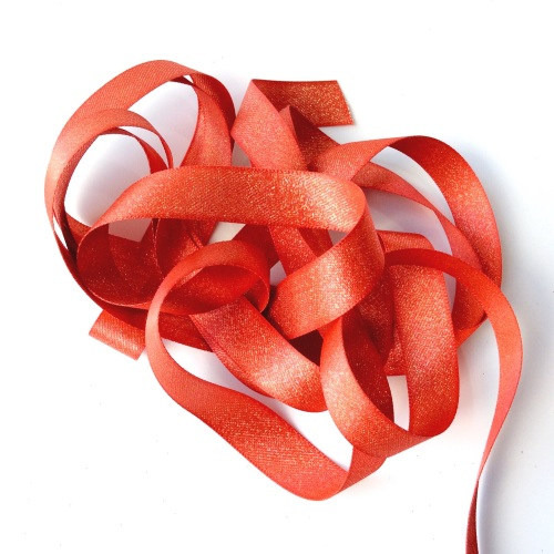 Sparkly 15mm ribbon - RED