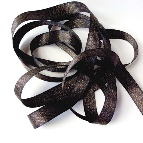 Sparkly 15mm ribbon - Black