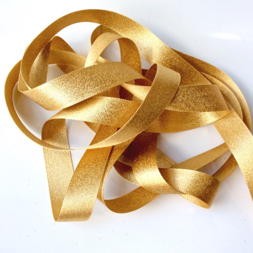 Sparkly 15mm ribbon - GOLD