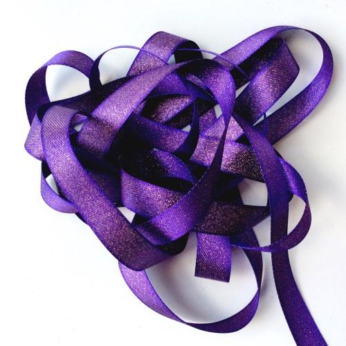 Sparkly 15mm ribbon - PURPLE