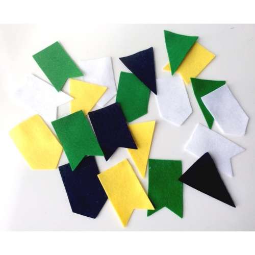 Felt-etti Bunting Flags, Die Cut Shapes
