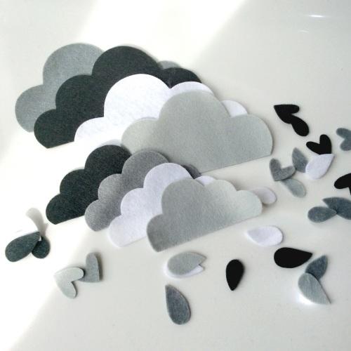 Felt-etti Clouds, Die Cut Shapes
