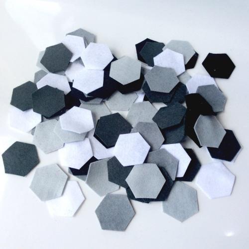 Felt-etti Hexagons, Die Cut Shapes
