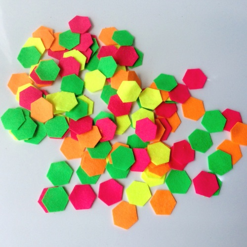 Felt-etti Mini Hexagons, Die Cut Shapes