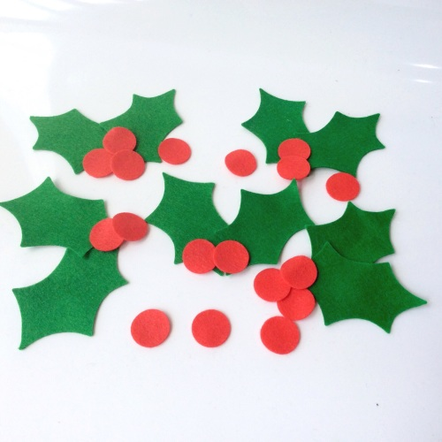 Felt-etti Holly and Berries, Die Cut Shapes