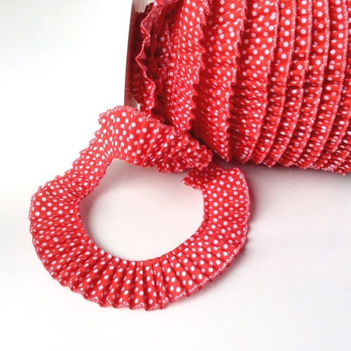 polka Dot Frill - RED