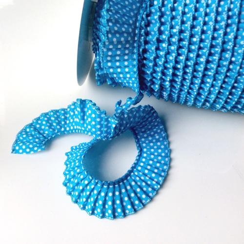 polka Dot Frill - Turquoise