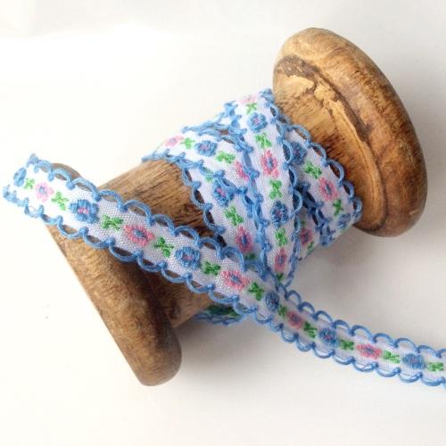 Folky Floral ribbon - IRIS