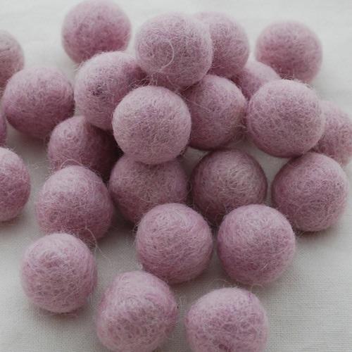 HEATHER - 2cm felt balls