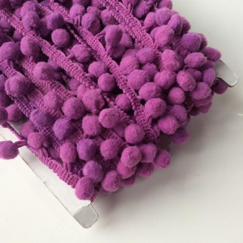 Purple 10mm pompom trim