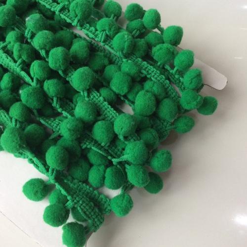 Pea green 10mm pompom trim
