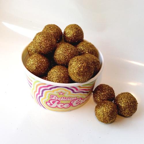 GOLD glitter felt ball