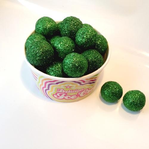 EMERALD glitter felt ball