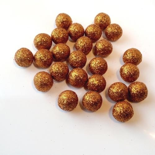 BRASS 15mm glitter felt balls
