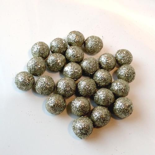 NICKEL 15mm glitter felt balls