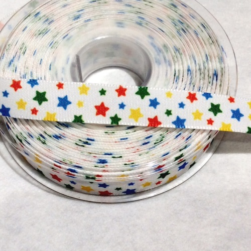 Primary coloured star 16 mm ribbon