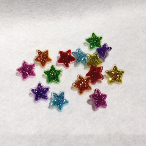 Glittered star buttons -
