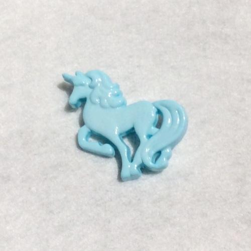 Unicorn button - Aqua