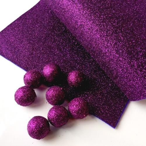 ROYAL PLUM Glitter Felt