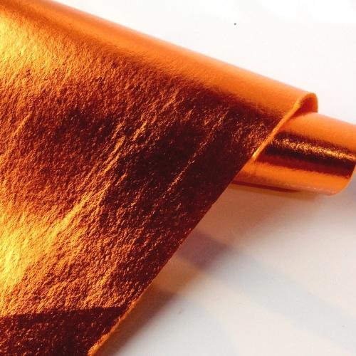 Leathered effect ORANGE felt