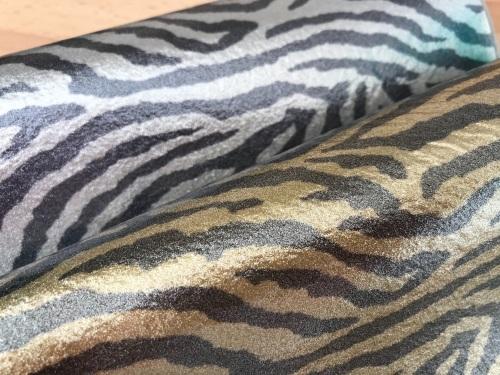 Shimmer SILVER ZEBRA Leathered Effect Felt