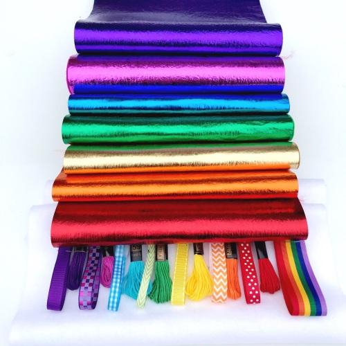 Leathered Effect Felt Rainbow Bundle