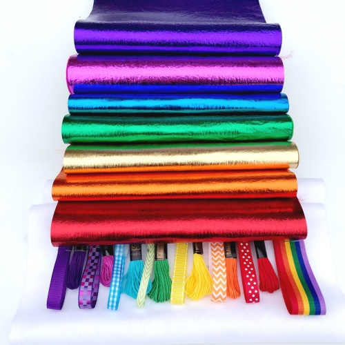 Leathered Effect Felt Rainbow Bundle