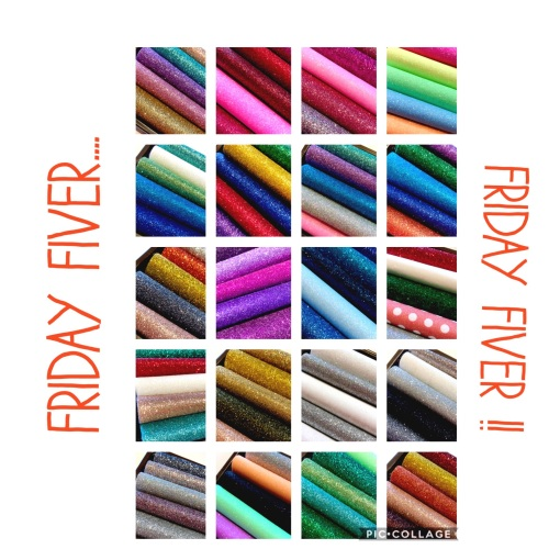 FRIDAY FIVER - Mini glitter felt bundle