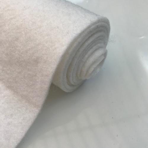 PURE WHITE Wool Blend Felt