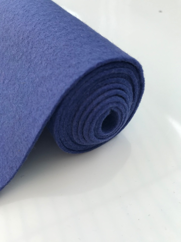 BLUER THAN BLUE Wool Blend Felt