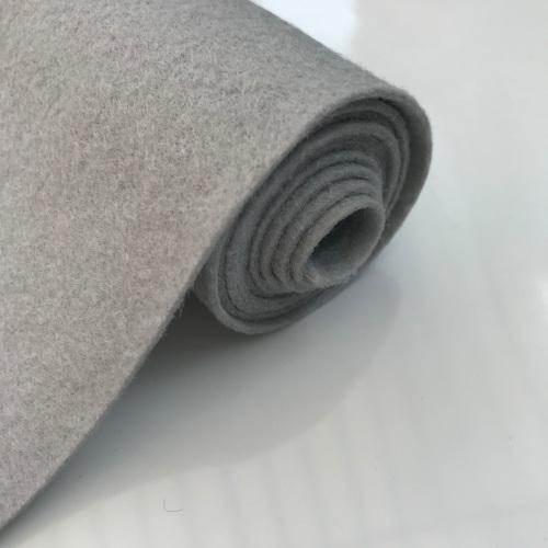 SILVER GREY Wool Blend Felt