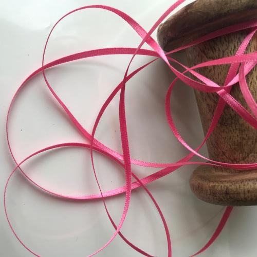 3mm Satin Ribbon - SUGAR PINK