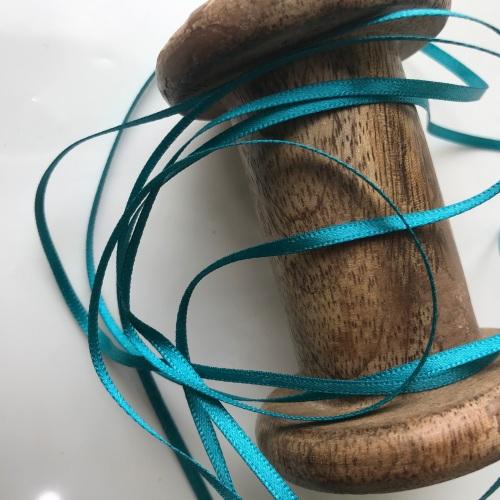 3mm Satin Ribbon - PEACOCK